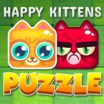 Happy Kittens Puzzle bonito no jogo de quebra-cabeça